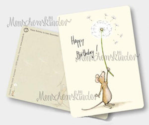 Postkarte - Happy Birthday- Maus von Gutrath