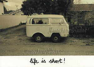 Postkarte - Life is short von Inkognito