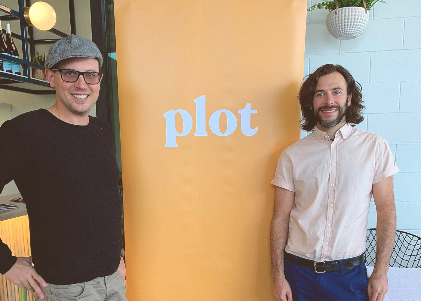 Kevin and Adam - Plot launch at Elma