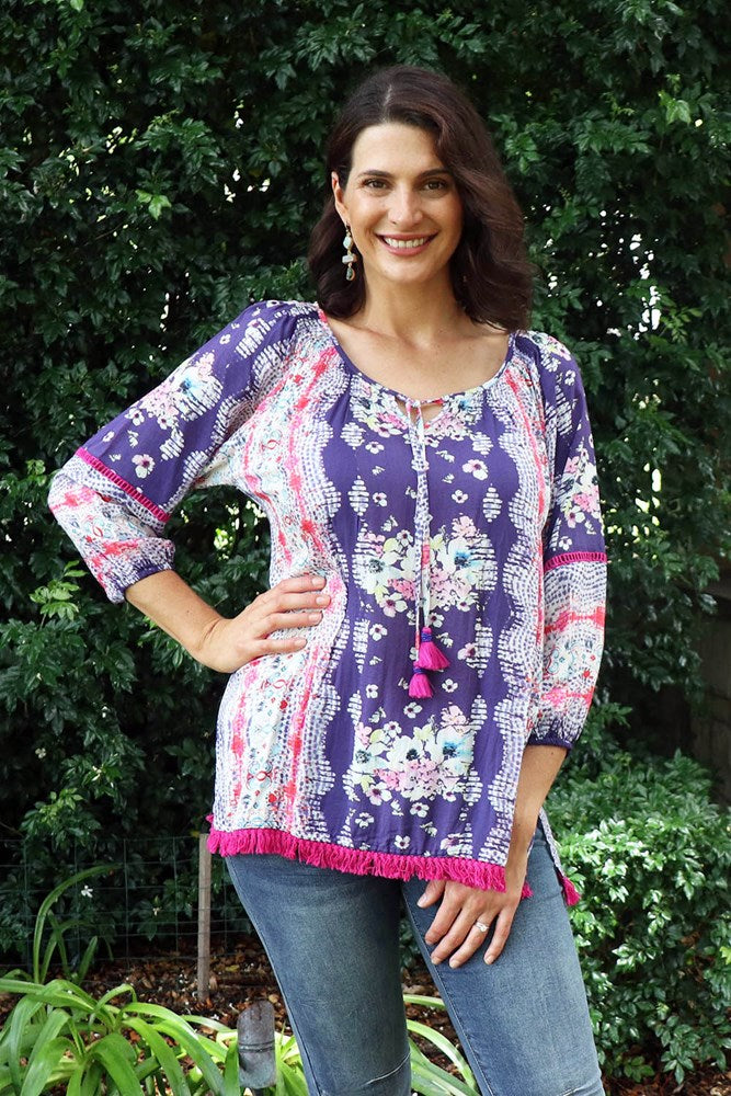 Greer Top Violet - Kabana Shop