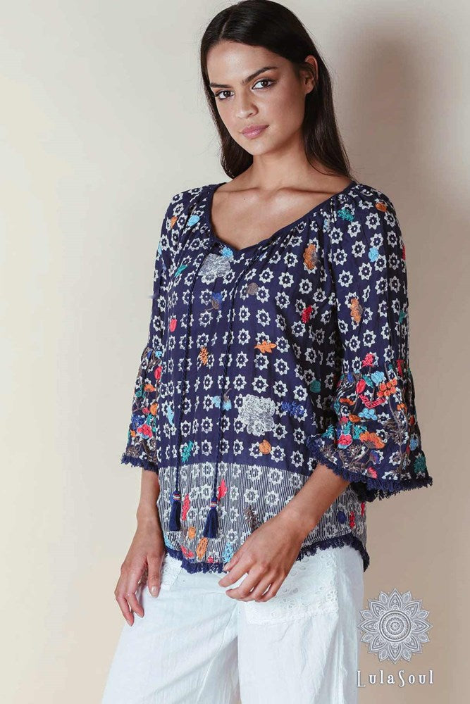 Lulasoul Aruba Top Navy - Kabana Shop