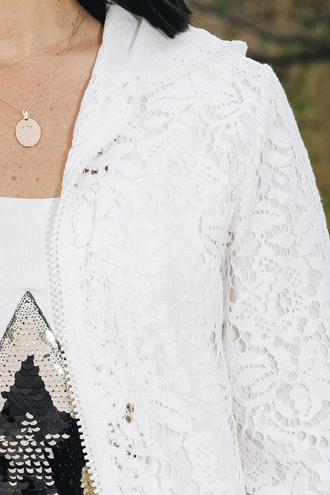 Lace Jacket White - Kabana Shop