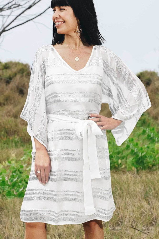 Plato Dress White - Kabana Shop