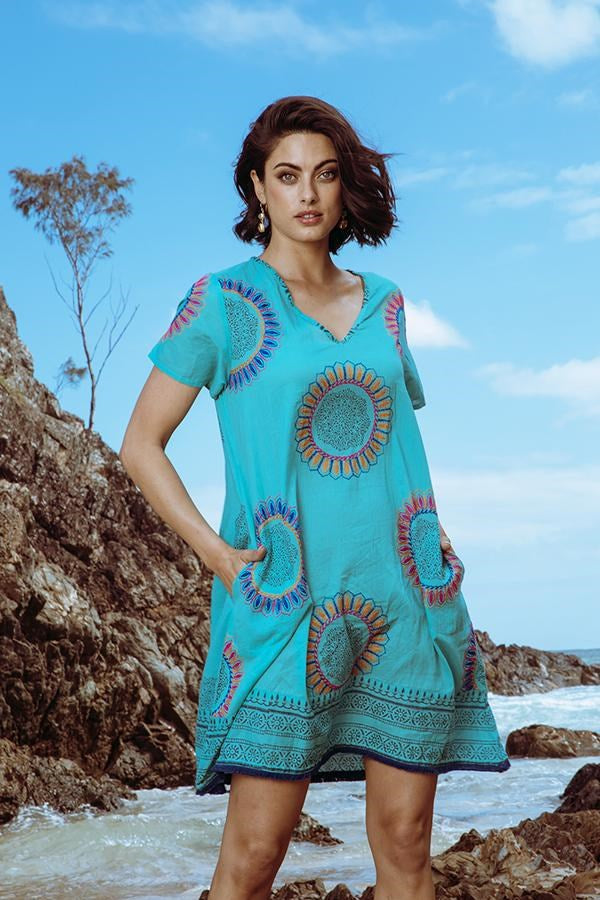 Eva Dress Sea - Kabana Shop