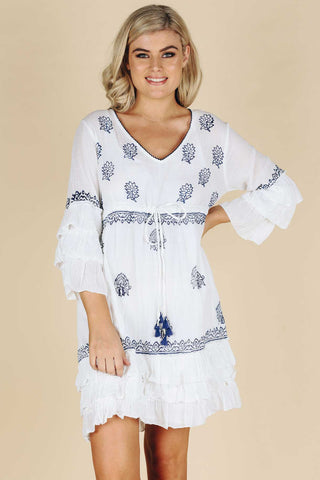 Fitzroy Dress White - Kabana Shop