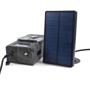 Outdoor Solar Panel Charger Hunting Trail Camera Battery Charger 9V Output For Suntek HC-300M HC-700M HC700G Hunting Cameras