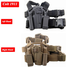 Load image into Gallery viewer, Left / Right Hand Tactical Gun Carry Case Colt 1911 Leg Holster Military Airsoft Gun Pouch Hunting Gear Thigh Holster