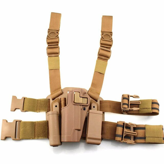 Left / Right Hand Tactical Gun Carry Case Colt 1911 Leg Holster Military Airsoft Gun Pouch Hunting Gear Thigh Holster