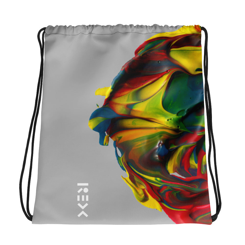 Primary Paint Drawstring bag
