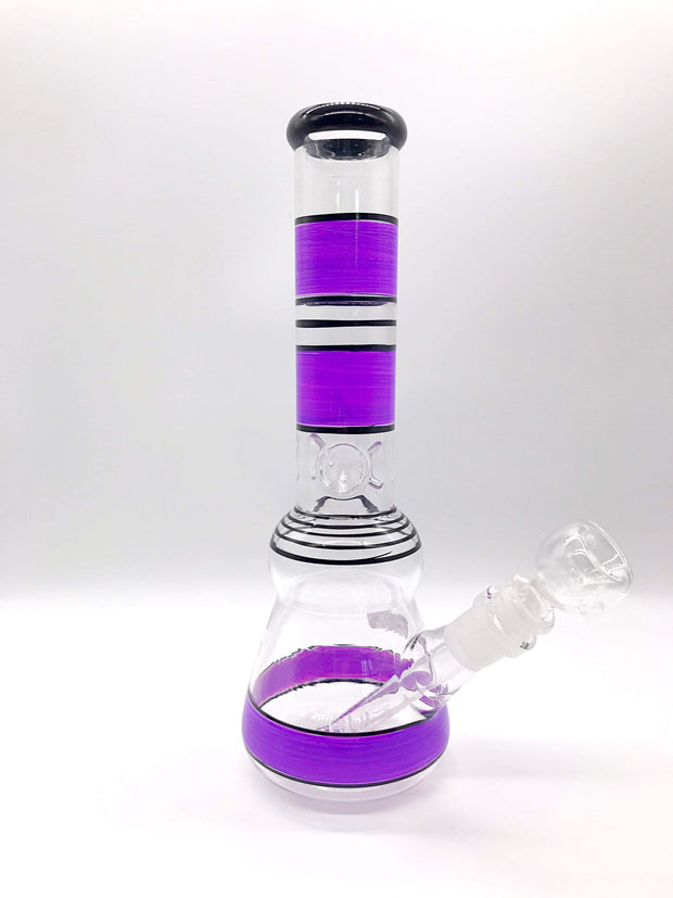 Smoke Station Water Pipe Purple 10' Two tone water pipe with ice pinch.