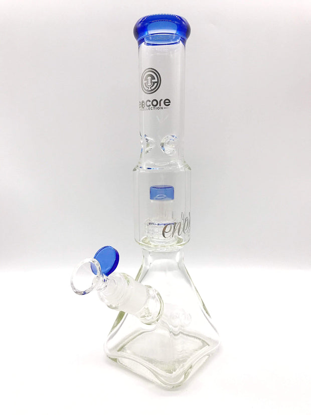 "Smoke Station Water Pipe Blue 12"" Pyramid salt-shaker beaker from Encore"