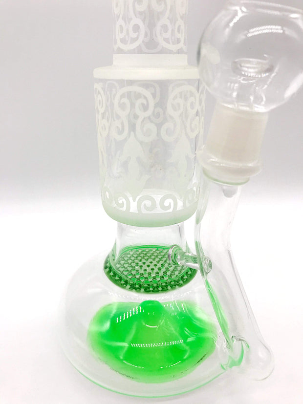 "Smoke Station Water Pipe 14"" Honeycomb Rig"