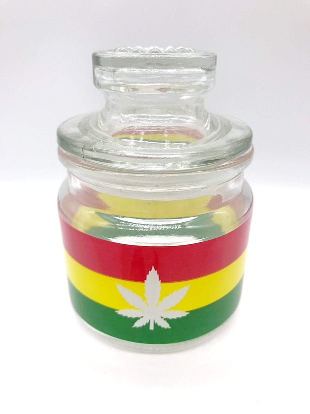 Smoke Station Accessories 420 & Leaf Ashtray and stash jar set