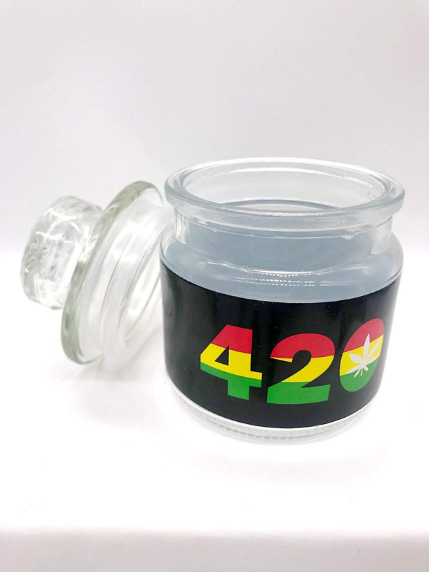 Smoke Station Accessories 420 & Leaf Ashtray and stash-jar set