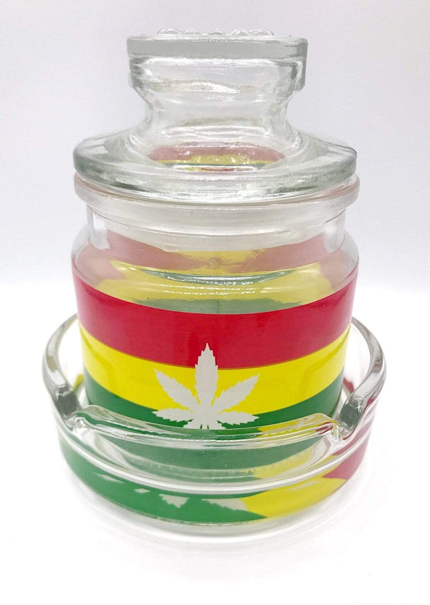 Smoke Station Accessories Leaf 420 & Leaf Ashtray and stash jar set