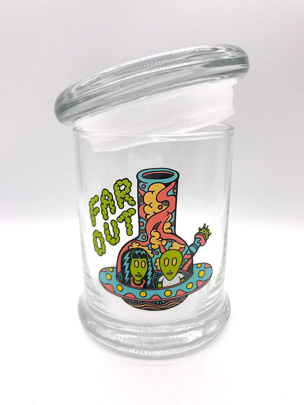 Smoke Station Accessories Far Out 420 Science Pop-Top KIller Acid Thick Airtight Jar - Medium