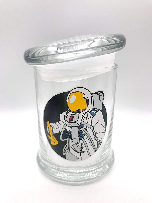 Smoke Station Accessories Spaceman 420 Science Pop-Top KIller Acid Thick Airtight Jar - Medium