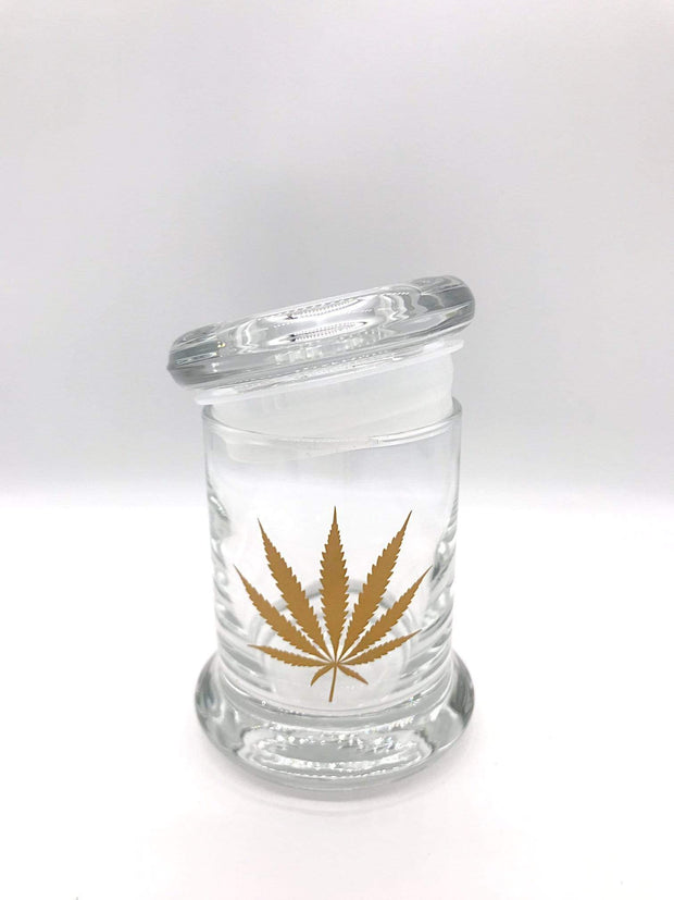 Smoke Station Accessories Gold Leaf 420 Science Pop-Top KIller Acid Thick Airtight Jar - Small