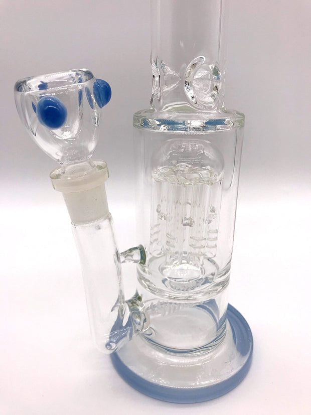 Smoke Station Water Pipe 5mm Thick Scientific Water Pipe with Dual Perc and Ice Catch