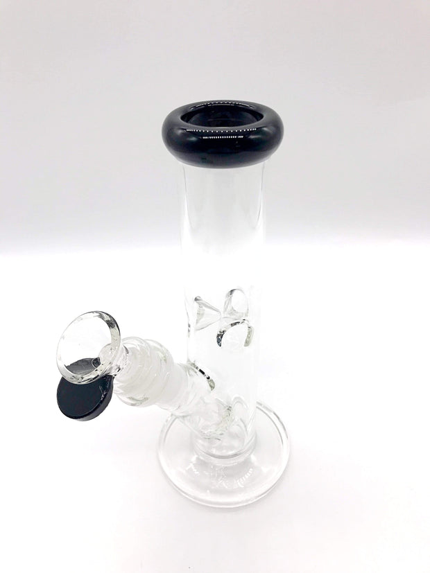 "Smoke Station Water Pipe 8"" Straight tube with American color and ice pinch"