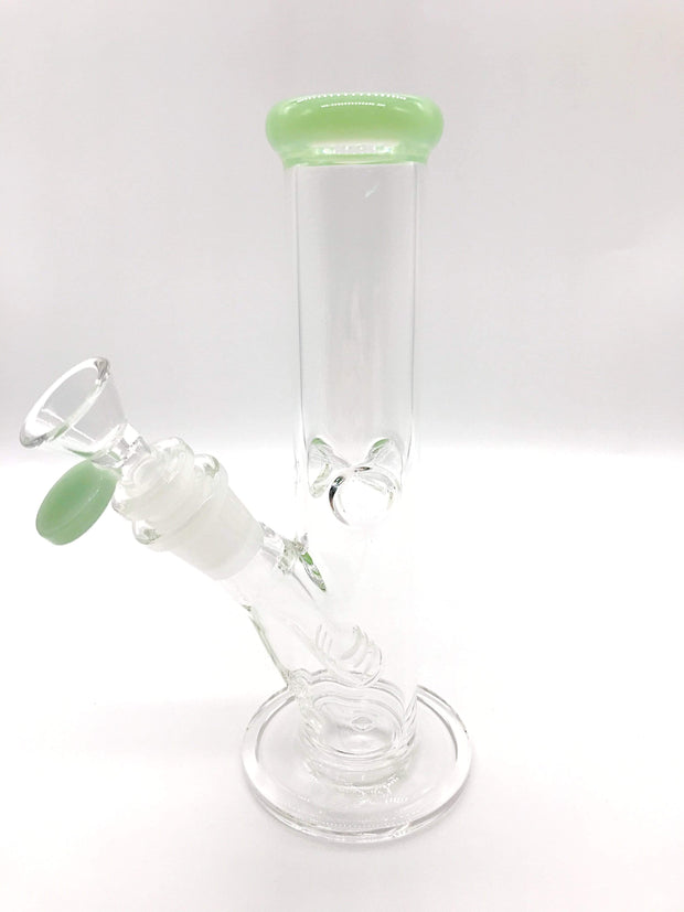 "Smoke Station Water Pipe Mint 8"" Straight tube with American color and ice pinch"