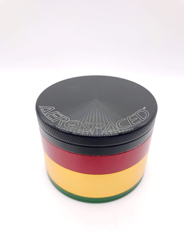 Smoke Station Accessories Rasta / 63mm Aerospaced Large Anodized Aluminum Grinder (63mm)