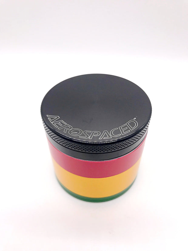Smoke Station Accessories Rasta / 50mm Aerospaced Medium Anodized Aluminum Grinder (50mm)
