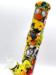 Smoke Station Water Pipe 1000 Pirates Skulls Aggressively Styled Silicone Water Pipe