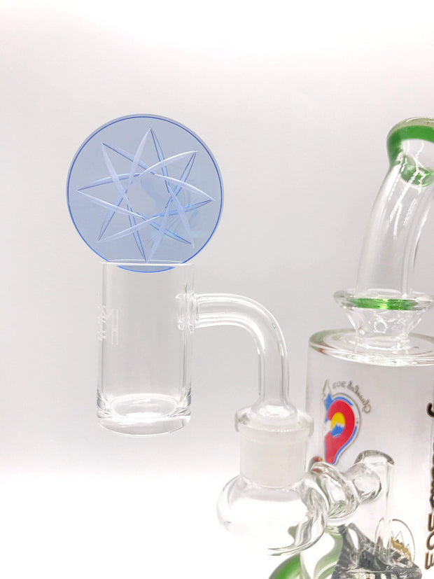 Smoke Station Carb Cap American Borosilicate Channel Carb Cap