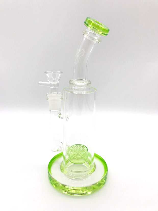 Smoke Station Water Pipe Green American flower of life Rig