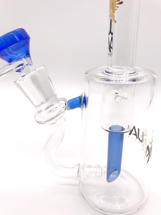 Smoke Station Water Pipe Blue Aqua Glass Incycler Rig