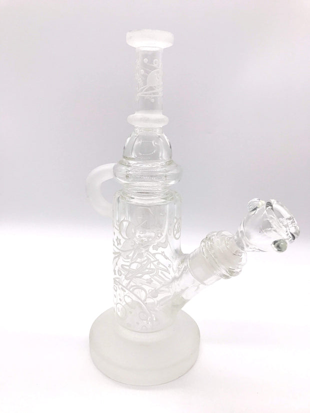 Smoke Station Water Pipe Clear Blast Off! Sandblasted Incycler Rig