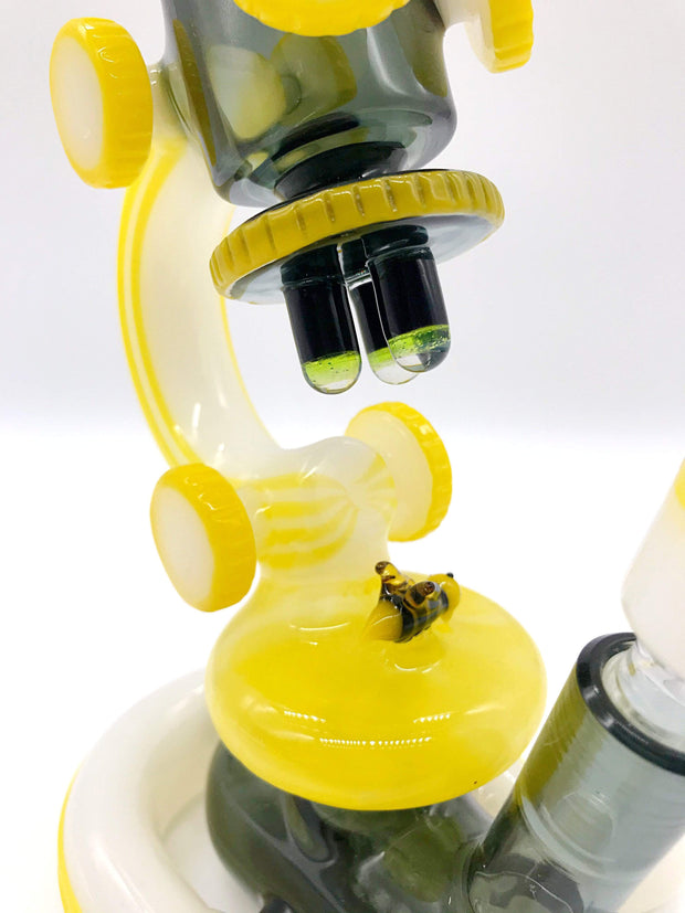 Smoke Station Water Pipe Bougie Glass Heady American Microscope Rig
