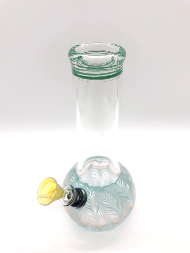 "Smoke Station Water Pipe Classic bulb beaker water pipes with rake (8"" tall)"