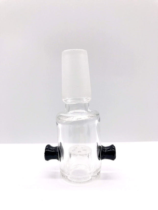 Smoke Station Waterpipe Bowl Black Clear Waterpipe Bowl with Built-In Screen - 14mm