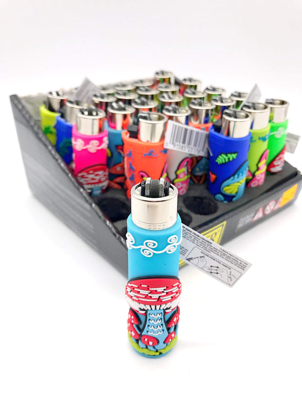 Smoke Station Accessories In Store Only Clipper Funky Silicone Pocket Lighter (In Store Only)