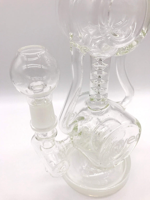 Smoke Station Water Pipe Clover Glass American Scientific Donut Perc Rig