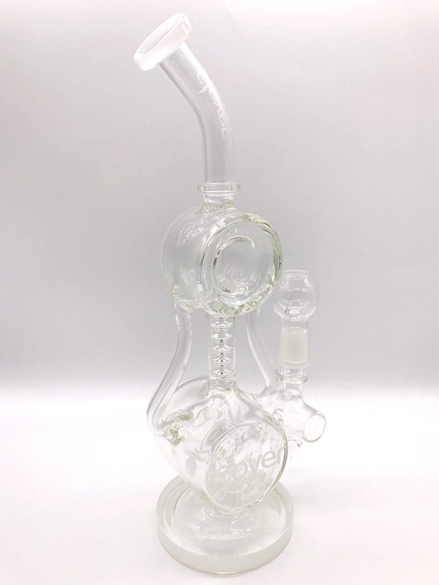 Smoke Station Water Pipe White Clover Glass American Scientific Donut Perc Rig