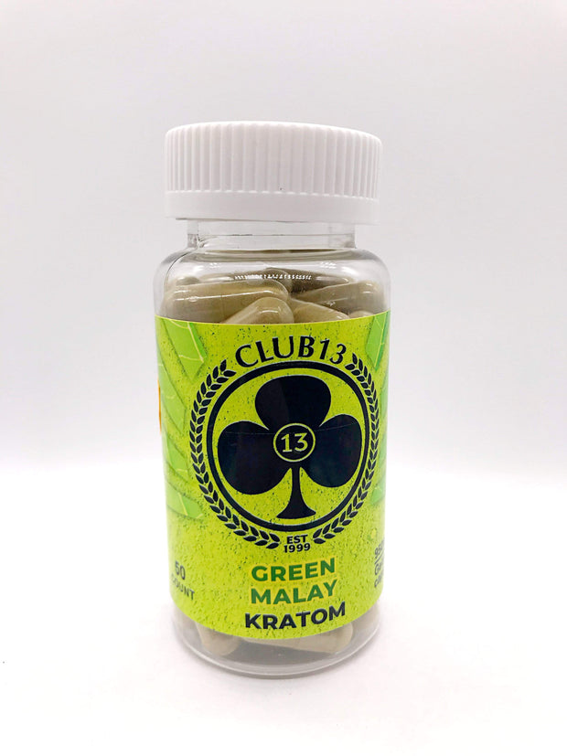 Smoke Station Kratom Green Malay / 50 Count Club 13 Kratom 50ct Capsules