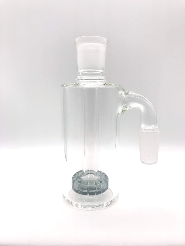 Smoke Station Ash Catchers Clear Gray Colored ash catcher of with showerhead perc 14mm 90° joint