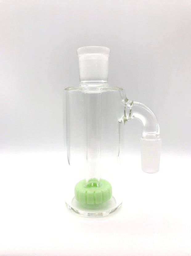 Smoke Station Ash Catchers Pastel Green Colored ash catcher of with showerhead perc 14mm 90° joint