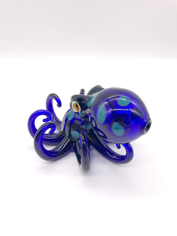 Smoke Station Hand Pipe Blue Dope Freak Hand-blown Octopus Dry Pipe