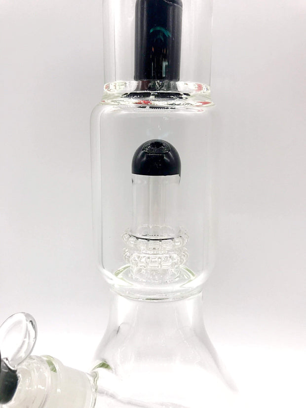 Smoke Station Water Pipe Clear Double Showerhead Water Pipe