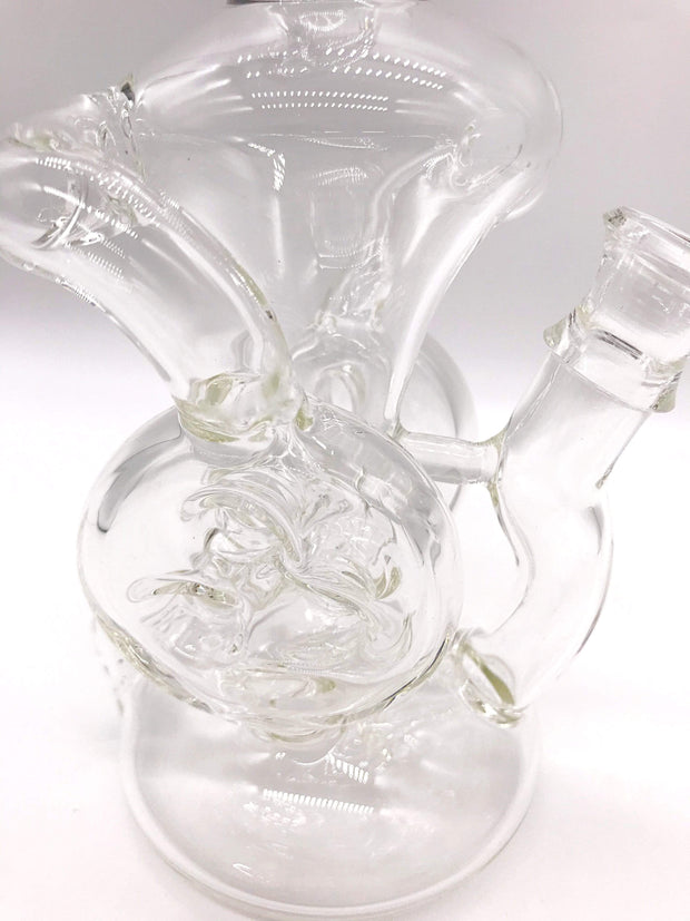 Smoke Station Water Pipe Clear Encore Double Swiss Perc Recycler Rig