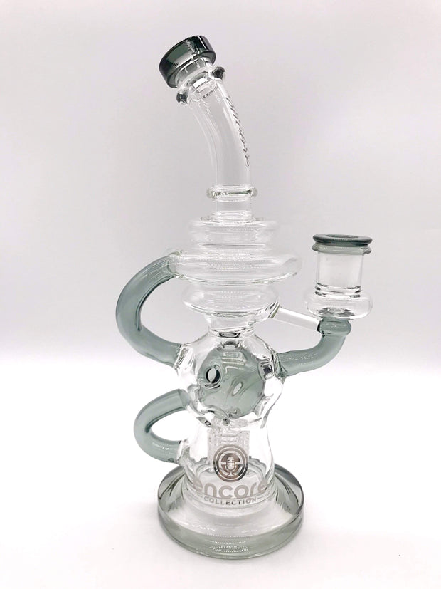 Smoke Station Water Pipe Gray Encore Matrix Fab Egg Recycler Rig