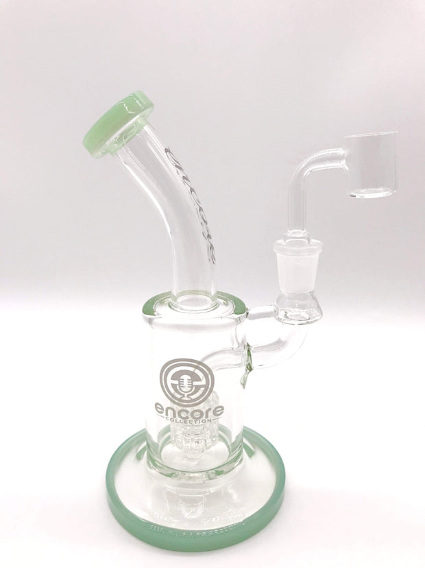 Smoke Station Water Pipe Teal Encore Matrix Perc Rig