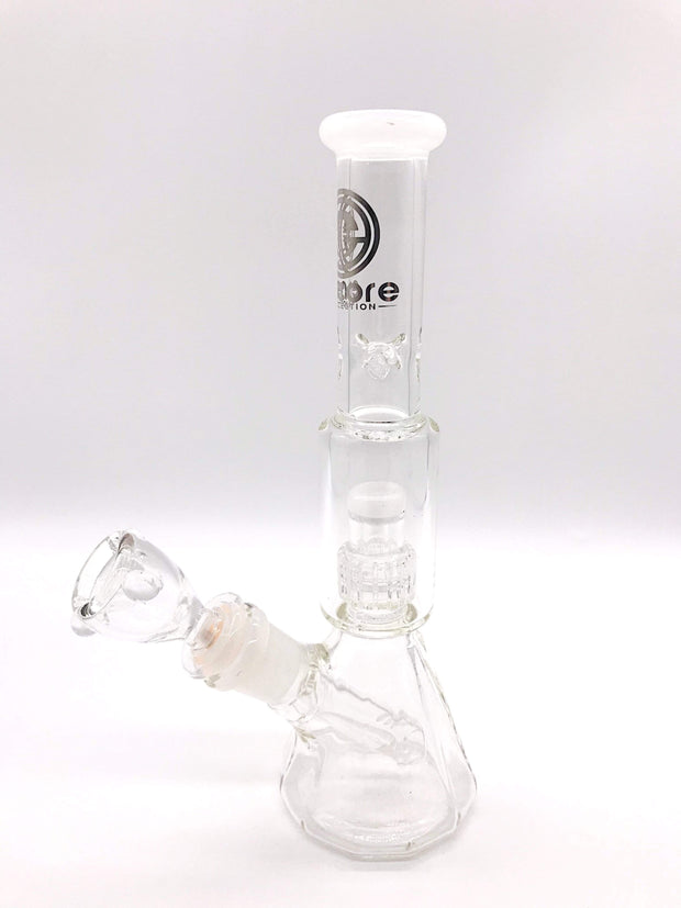 Smoke Station Water Pipe White Encore Mini Salt Shaker Water Pipe