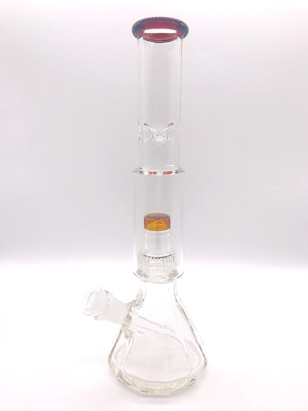 "Smoke Station Water Pipe Amber Encore Salt Shaker Water Pipe (13"" tall 14mm)"