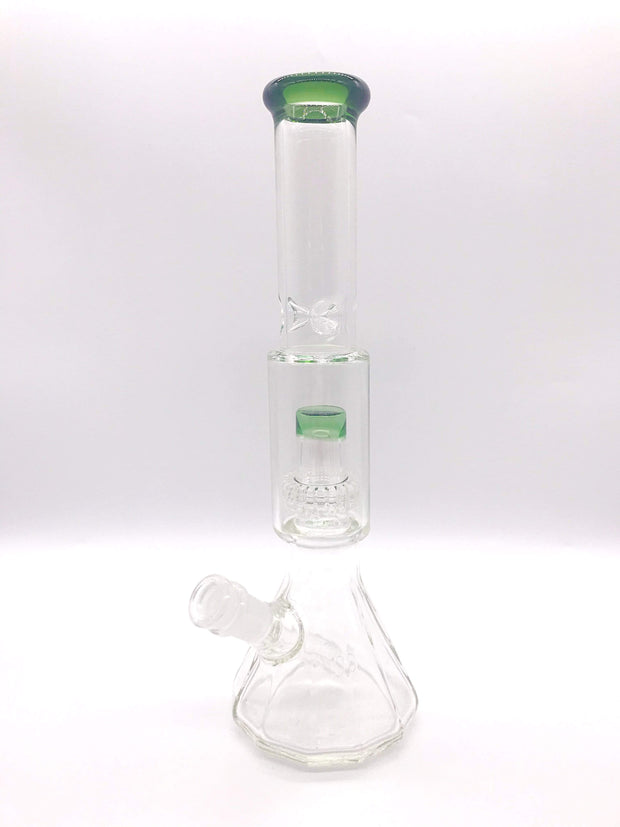 "Smoke Station Water Pipe Green Encore Salt Shaker Water Pipe (13"" tall 14mm)"