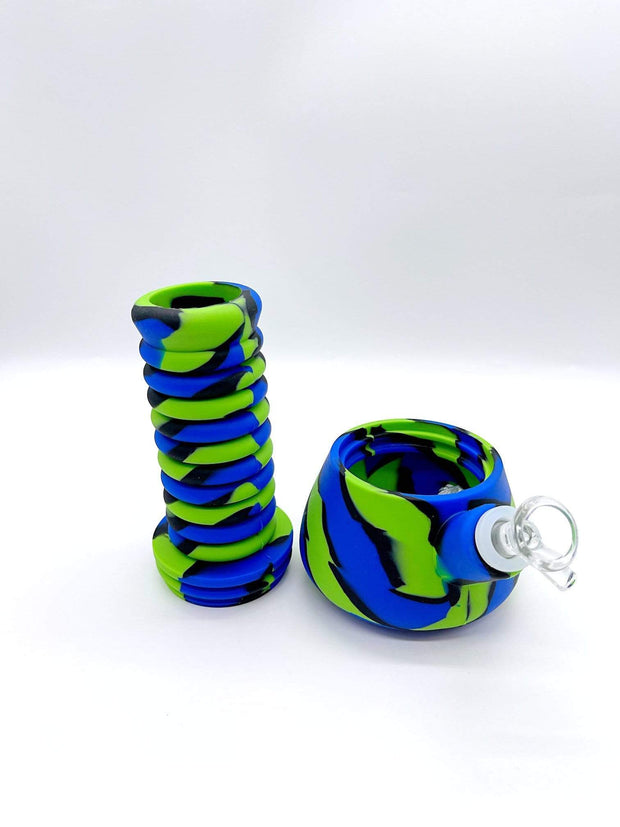 Smoke Station Water Pipe Extendable Silicone Beaker Water Pipe